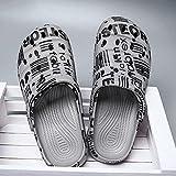 NISHIWOD Zapatillas Casa Chanclas Sandalias Hombres Zuecos Sandalias Zapatillas Al Aire Libre Playa Aqua Zapatos Hombres Slip On Flipflops Sandalias De Jardín Zapatos Casuales Zapatos De Agua 41 Gris