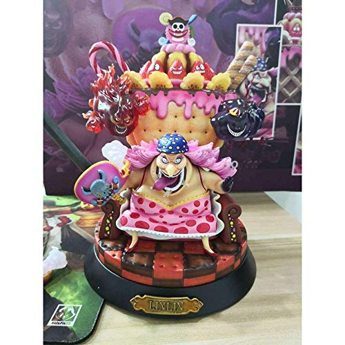BAONIOU Estatua de Anime One Piece Anime Statue/Four Emperors Big MOM CharlotteLingling Anime Portrait Home Office Decoration Toy - PVC-23CM Estatua de Juguete