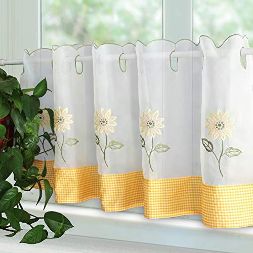 cortinas cocina girasoles