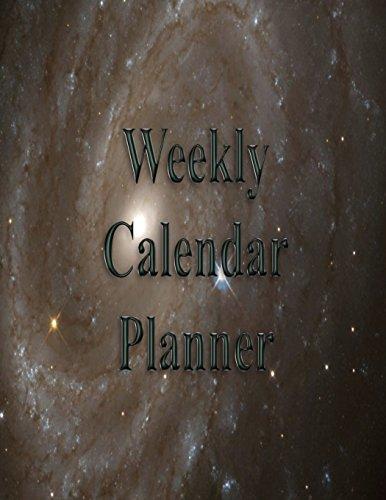 Weekly Calendar Planner - 70 Weeks - (8.5 X 11) - Spiral Galaxy: Large Spiral Galaxy