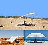 globolandia srl tenda da spiaggia tents globo sand 2.1m x 2.1m con ancoraggio a sabbia 95117b, parasole portatile tende con ancoraggio a sabbia tettuccio parasole