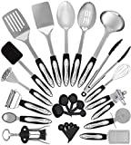 Home Hero Stainless Steel Kitchen Cooking Utensils - 25 Piece Kitchen Utensil Set - Nonstick Kitchen Utensils Cookware Set with Spatula Set - Kitchen Gadgets Kitchen Tool Set Cooking Utensils Set