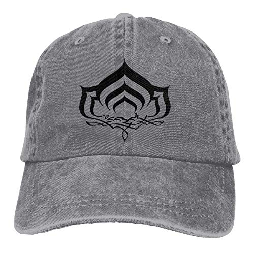 XCNGG Warframe Sombreros de Vaquero Unisex sólidos Sombrero de Mezclilla Deportivo Gorra de béisbol de Moda Negro
