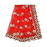 Vedic Vaani Netted Design Marriage Wedding Shagun Odhani Chunri Red Color Dupatta