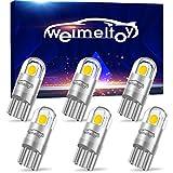 WEIMELTOY 194 LED Car Bulb 3030 Chipset 2SMD T10 194 168 W5W LED Wedge Light Bulb 1.5W 12V License Plate Light Courtesy Step Light Trunk Lamp Clearance Lights (6pcs/pack)
