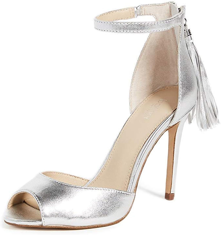 Botkier Womens Anna Fringe Evening Dress Sandals