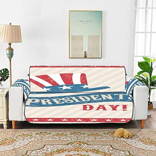 WYYWCY Presidents Day USA Flagge Muster Hut Dekor Stuhl Schonbezug Klappstuhl Schonbezug Klappstuhl Schonbezug 66