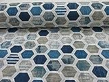GADETEX Telas por metro loneta (Panal Azul, 1,45x2,80 m)