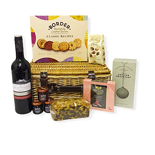 75cl Las Montanas Red Wine and Chocolate Indulgence Food Hamper - Gift Ideas for Birthday, Anniversary, Business and Corporate, him, her, Dad, Fathers Day, Mum, Grandma, Grandad, Thank you