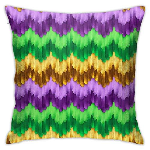 Funda de almohada para sofá con diseño de carnaval de 48 x 48 cm.