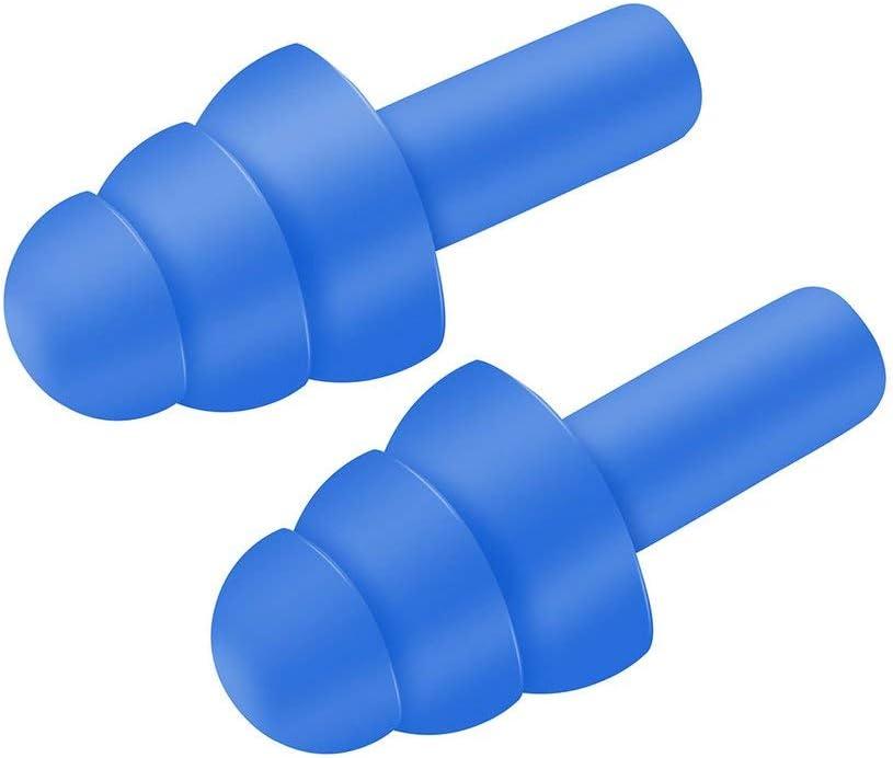 Tree-on-Life 1 par de espiral conveniente tapones para los o/ídos de silicona antirruido ronquidos tapones para los o/ídos c/ómodos para dormir reducci/ón de ruido accesorio