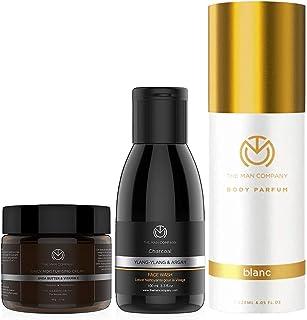 The Man Company Classic Daily Face Care Kit   Charcoal De Tan Face Wash, Daily Moisturising Face Cream, Blanc Deodorant fo...