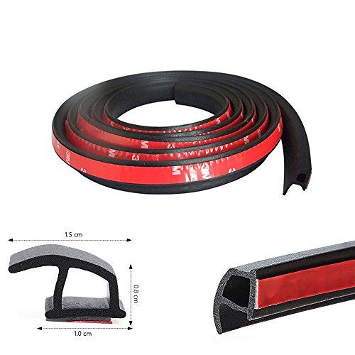 Haichen 4 M P-typ Selbstklebende Automotive Gummidichtungsstreifen für Tür Fenster Randleiste Trim Schmücken Weathers