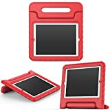 MoKo Funda para iPad 2/3 / 4 - Material EVA Lightweight Kids Shock Proof Protector Cover Case con Manija para Apple iPad 2/3 / 4 9.7 Pulgadas Tableta, Rojo