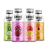 Powerful Hydration Water, Flavored Drink with Vitamin D, Antioxidant Beverage, Zero Sugar, Pack of 12 Bottles, 500mL Each - ShineWater (Variety Pack)