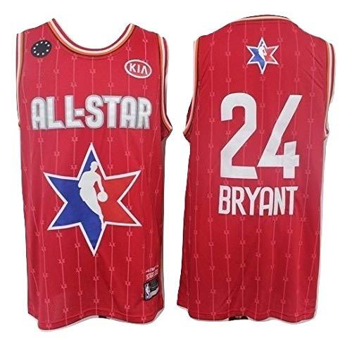 WOLFIRE SC Camiseta de Baloncesto para Hombre, NBA, Los Angeles Lakers #8#24 Kobe Bryant. Bordado Swingman Transpirable y Resistente al Desgaste Camiseta para Fan (All-Star 2020, L)