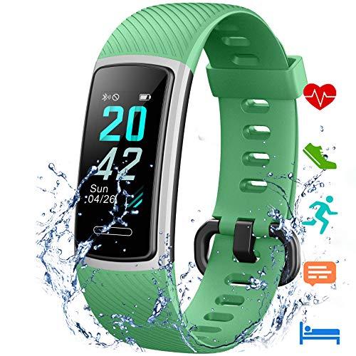[Aktualisierte 2021 Version] Fitness Armband mit Pulsmesser,IP68 Wasserdicht Smartwatch Aktivitätstracker Sportuhr,Fitness Tracker Pulsuhr Schrittzähler Uhr für Damen Herren für iPhone Android Handy