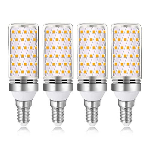 Lampadina Mais E14 16W LED Luce Calda 3000K, 1600 Lumen, Equivalente Incandescenza E14 100W-120W, AC 220V, Non Dimmerabile, LED Piccola per Lampadario da Cucina, Plafoniera, set di 4