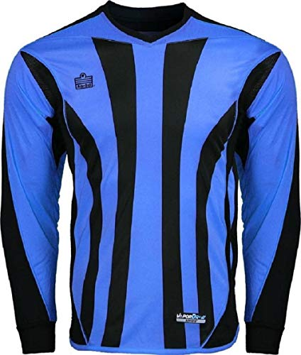 New Admiral Bayern Padded Soccer Goalie Goal Shirt Italy Blue/ Black ADULT S-XL (X-Large)
