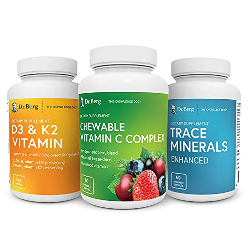 Dr. Berg's Immune Booster Kit - Advanced Healthy Immune System Support Boost - Supplements for Men & Women - with Vitamin C, D, & Zinc (from Trace Minerals)