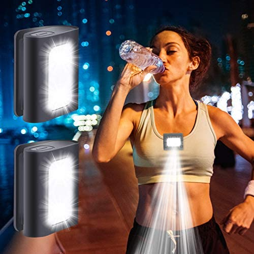 Running Light 2Pack Reflective Running Gear for Runners USB Rechargeable LED Light Clip on Running product image