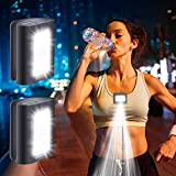 Running Light, 2Pack Reflective Running Gear for Runners, USB Rechargeable LED Light, Clip on Running Lights with Runners and Joggers for Camping, Hiking, Running, Jogging, Outdoor Adventure