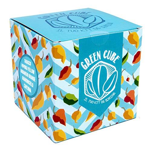 GREEN CUBE, il tuo kit da semina di Peperoncini – 5 diverse varietà di peperoncini piccanti da coltivare. PERFETTA IDEA-REGALO !