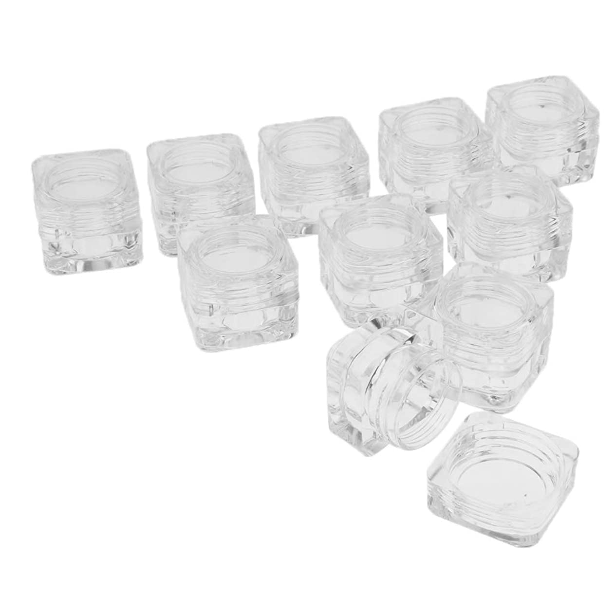 Perfeclan 10個 プラスチックジャー コスメ 収納ケース 透明 クリームジャー リップクリームコンテナ