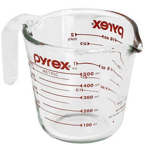 Pyrex Pyrex Prepware - Taza medidora de cristal (2 tazas)