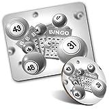 BW - Alfombrilla de ratón rectangular y posavasos redondos para Bingo Game Gran Auntie 20 cm y 9 cm para ordenador y portátil, oficina, regalo, base antideslizante #38071