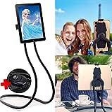Flex'n'Chill Pro Nacken Hals Handyhalter Tablethalter Bluetooth Selfie Fernbedienung, Nackenhalterung, Handyhalterung im Liegen im Bett für Smartphones, iPad, Nackenhalter