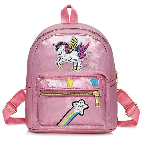 WolinTek Zaino Unicorno per Bambini, Mini Unicorn Zaino,Borsa Scuola Ragazza, Unicorn Sacchetto Di Scuola Unicorn Regalo Ragazza Zaino, Zaini Bambina per viaggi scolastici (Rosa)