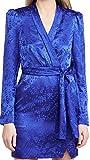 SALONI Women's Bibi Dress, Deep Cobalt, Blue, Print, 6