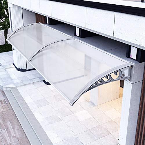 Aiboria Marquesina de policarbonato para techo, techo, techo, techo, techo, puerta, ventana,...