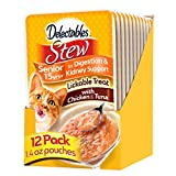 Hartz 3270015470 Delectables Stew Lickable Wet Cat Treats - Chicken and Tuna, 1,4 oz, pack of 12