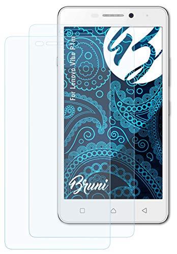 Bruni Schutzfolie kompatibel mit Lenovo Vibe P1m Folie, glasklare Bildschirmschutzfolie (2X)