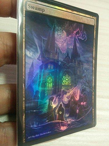GnD Cards 1x Swamp #5 FOIL Extended Textless Full Art Custom Altered Basic Land