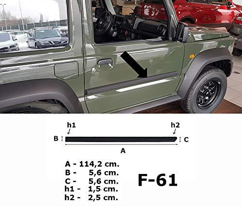 Spangenberg Seitenschutzleisten schwarz für Suzuki Jimny II ab Baujahr 10.2018- F61 (3700061)