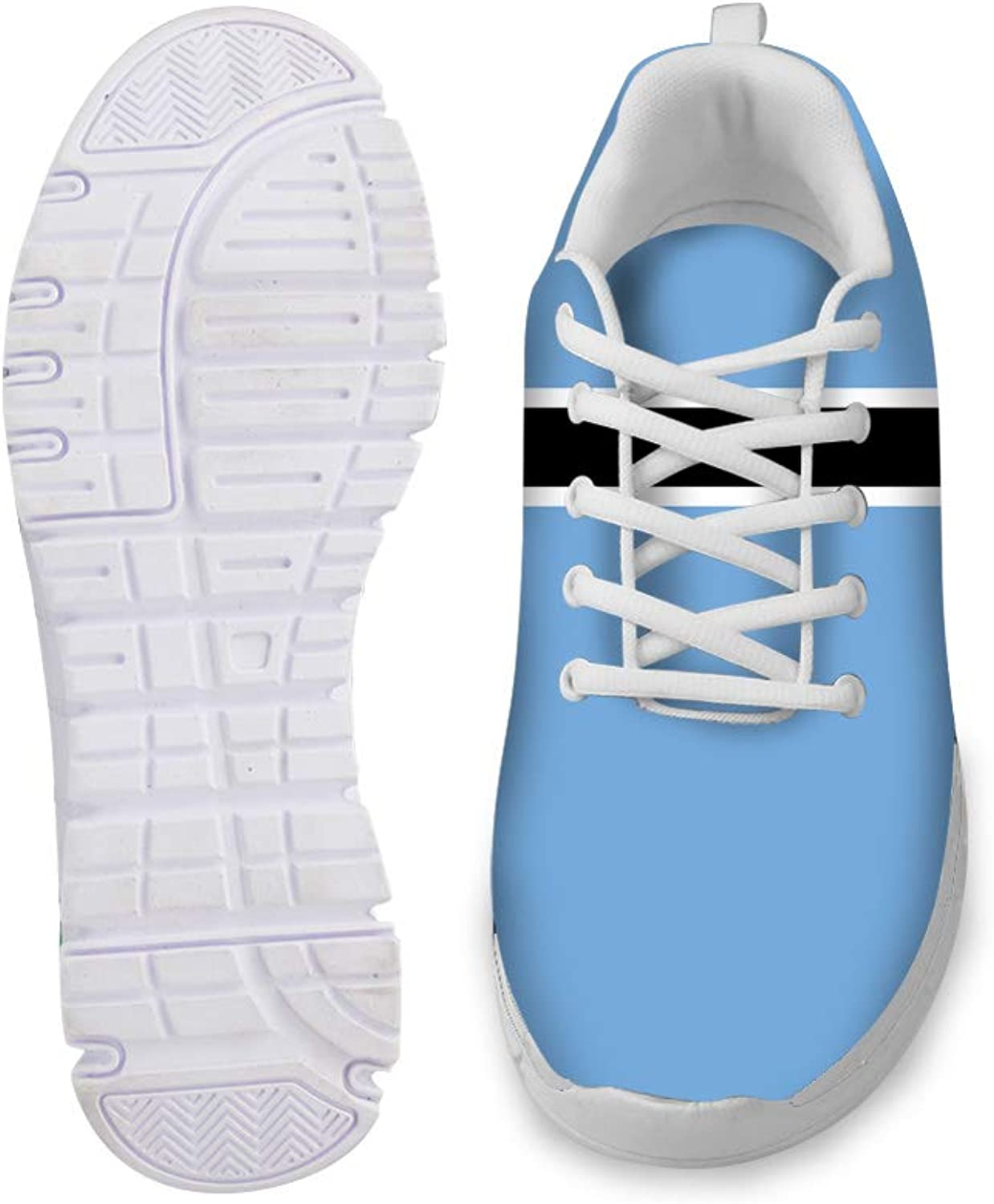 Owaheson Lace-up Sneaker Training shoes Mens Womens Botswana Flag
