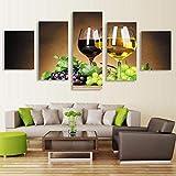 Novedades 5 HD Lienzo Pinturas artísticas Imagen Cuadros de pared Decoración del hogar Cuadros Modernos Decoracion Dormitorio Restaurante Tela no tejida con marco Pentas MU