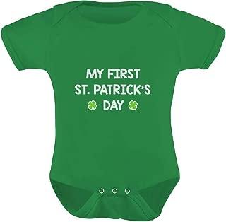 TeeStars - My First St. Patrick's Day - Cute Infant Irish Clover Baby Bodysuit