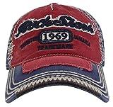 MINAKOLIFE Roche Requin Kingston 1969 Jamaïque Affligé Cru Trucker Base-Ball Casquette Chapeau (Rouge)