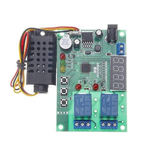 CHUI-CC Módulo de alimentación de Entrada 5V ~ 24V DC 10A La Temperatura y la Junta de Control de Humedad AM2301 Sensor de Alta eficiencia