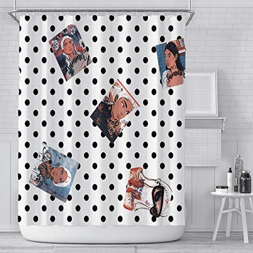 IFENGXIANYUANXIBAIHUO badkamerdecoratie van waterdicht polyester weefsel met coating voor douchegordijnen met gemengde letters om zelf te maken