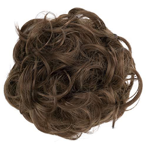 PRETTYSHOP Postizo Coletero Peinado alto, VOLUMINOSO, rizado, Moño descuidado pardusco #12A G6E