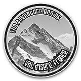 Impresionantes pegatinas de vinilo (juego de 2) 25 cm bw – Val d'Isere Ski Snowboard Resort Francia Divertidas calcomanías para portátiles, tabletas, equipaje, reserva de chatarras, frigoríficos, regalo genial #40632