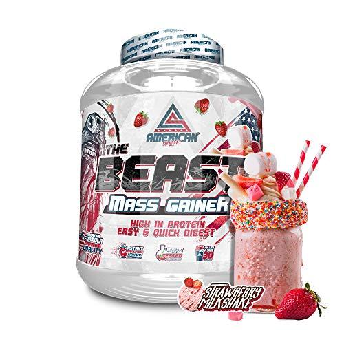 THE BEAST MASS GAINER 2kg, American Suplement, carbohidrato, subidor de peso (FRESA)