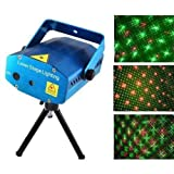 Candela Mini Laser Projector Stage Lighting Sound Activated Light for Party and DJ (Blue)