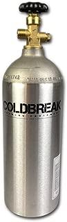 Coldbreak CO2 Tank, New, Aluminum, 5 lb. Capacity, Current Hydrostatic Testing Stamp