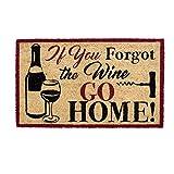 DII DM FORGOT THE WINE Doormat, 18x30',